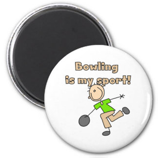 Bowling is my Sport 2 Inch Round Magnet