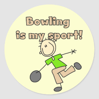 Bowling is my Sport Tshirts and Gifts Classic Round Sticker
