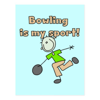 Bowling is my Sport Tshirts and Gifts Postcard