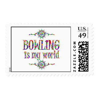 Bowling is My World Stamp