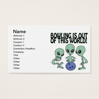 Bowling Is Out Of This World Business Card