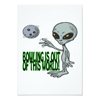 Bowling Is Out Of This World Card