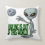 Bowling Is Out Of This World Pillow