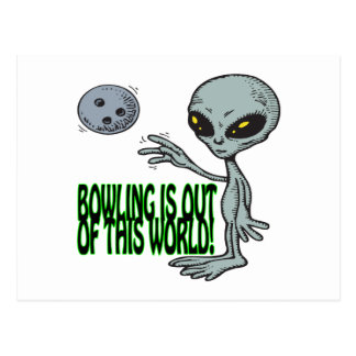 Bowling Is Out Of This World Postcard