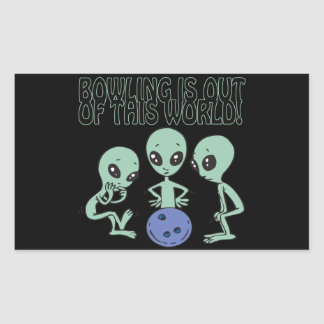 Bowling Is Out Of This World Rectangular Sticker