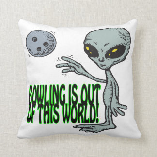 Bowling Is Out Of This World Throw Pillow