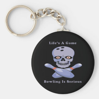 Bowling Is Serious Keychain