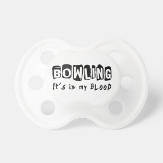 Bowling It's in my blood BooginHead Pacifier