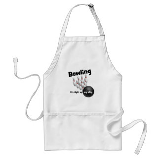 Bowling It's Right Up My Alley Adult Apron