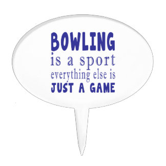 BOWLING JUST A GAME CAKE TOPPER