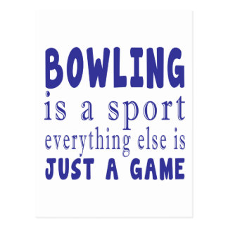 BOWLING JUST A GAME POSTCARD
