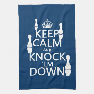 Bowling Keep Calm and Knock 'em Down - all colors Towel