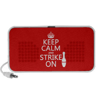 Bowling - Keep Calm and Strike On - all colors Portable Speakers