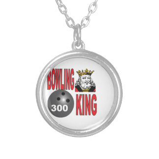 bowling king 300 yeah silver plated necklace