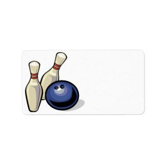 Bowling Personalized Address Label