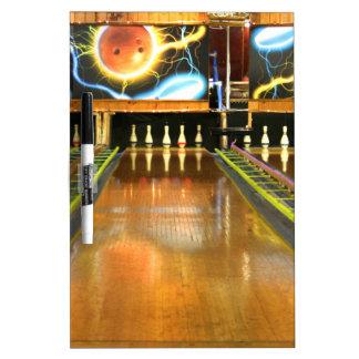 Bowling Lane Dry-Erase Board