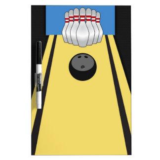 Bowling Lane, Pins, Ball Dry-Erase Board