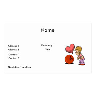 bowling love bowler humor cartoon business cards