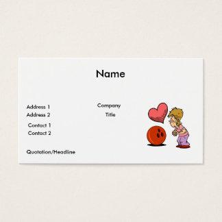 bowling love bowler humor cartoon business card