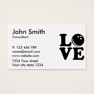 Bowling love business card