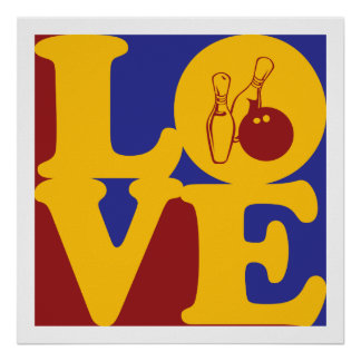Bowling Love Poster