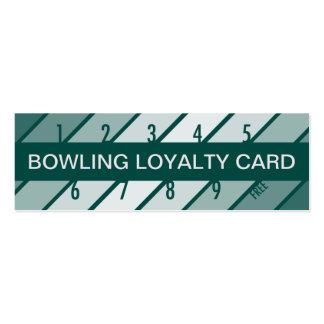 bowling loyalty card (retrograde) business card template