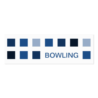 BOWLING (mod squares) Double-Sided Mini Business Cards (Pack Of 20)