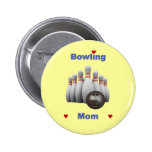 Bowling Mom 2 Inch Round Button