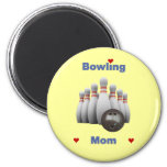Bowling Mom 2 Inch Round Magnet