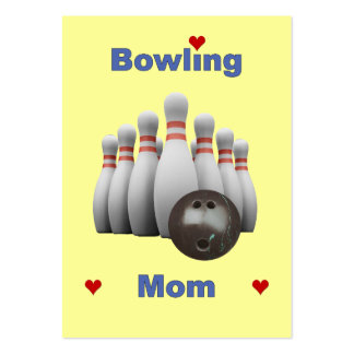 Bowling Mom Business Card Templates