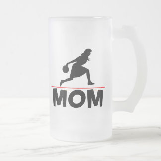 Bowling Mom Frosted Glass Beer Mug
