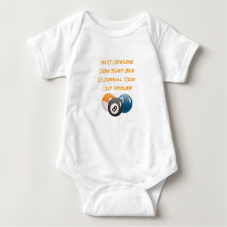 Bowling Mom Funny Mother Day Gift Player Bowling Baby Bodysuit