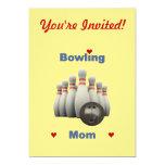 Bowling Mom Invitation