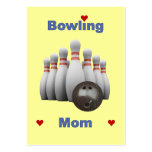 Bowling Mom Large Business Card