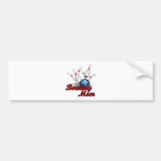Bowling Mom (strike) Bumper Sticker
