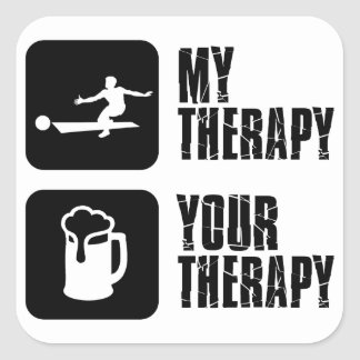 bowling my therapy designs square sticker