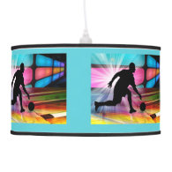 Bowling Neon Alley ANY COLOR BACKGROUND Ceiling Lamp
