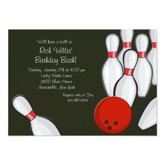 bowling night invitation zazzle com
