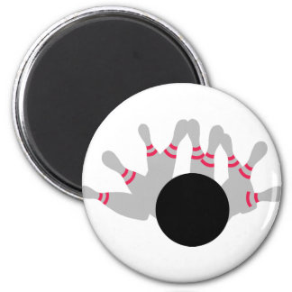 Bowling - Ninepins 2 Inch Round Magnet