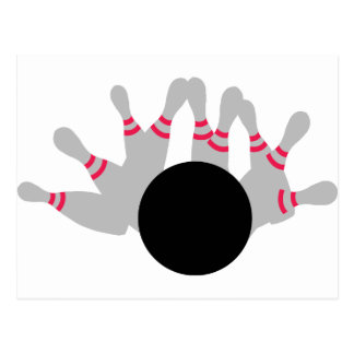 Bowling - Ninepins Postcard