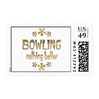 BOWLING Nothing Better Postage Stamp