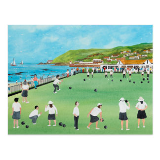 Bowling on Newlyn Green Postcard