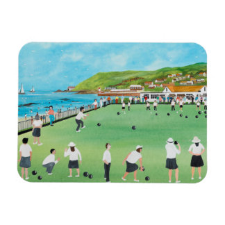 Bowling on Newlyn Green Rectangular Photo Magnet