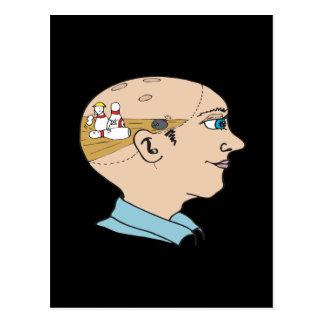 Bowling On The Brain Postcard