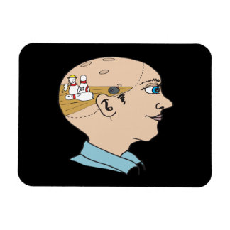 Bowling On The Brain Rectangle Magnets