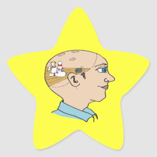 Bowling On The Brain Star Sticker