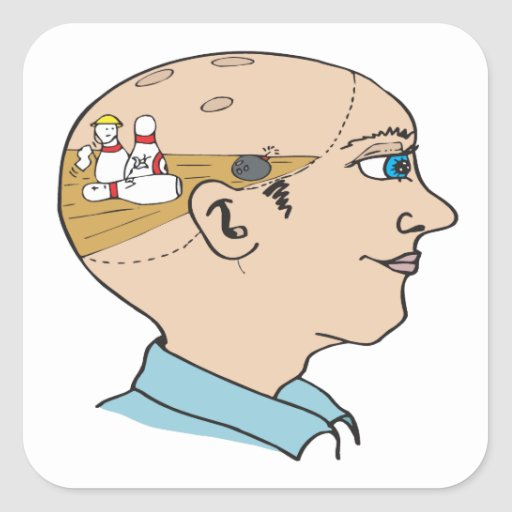 Bowling On The Brain Stickers