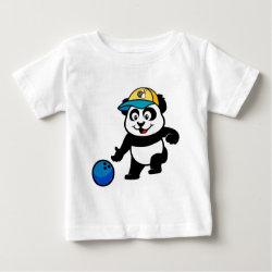 Baby Fine Jersey T-Shirt with Bowling Panda design