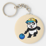 Bowling Panda Key Chain