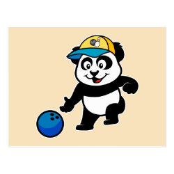 Postcard with Bowling Panda design